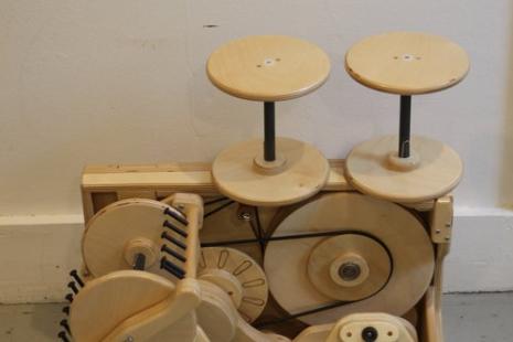 Folding Wheel, Spin Any Size Yarn